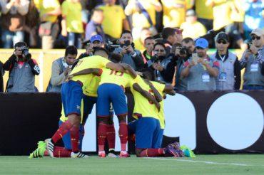 Ecuador vence a Venezuela y sigue en zona de clasificación