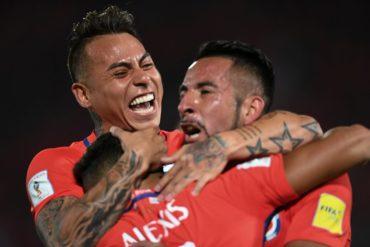 Chile celebra en Santiago tras gran remontada ante Uruguay