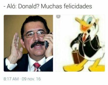 Honduras no fue la excepción con los Memes del triunfo de Donald Trump