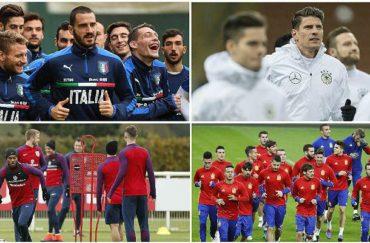 Italia-Alemania e Inglaterra-España, los destacados en la jornada de amistoso en Europa