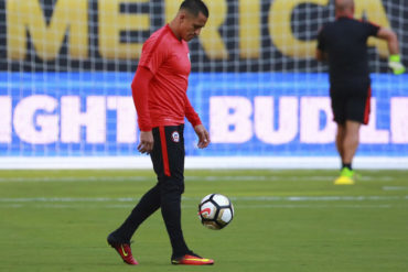 Alexis Sánchez volvió a entrenar con la Selección chilena