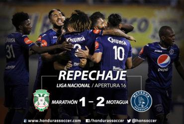 Motagua dio un gran paso firme rumbo a la semifinal al vencer al Marathón