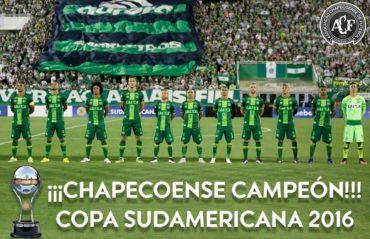 CONMEBOL otorga el título de Campeón de la Copa Sudamerica al Chapecoense