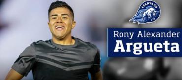 El Celaya de México anunció el fichaje del hondureño, Rony Argueta