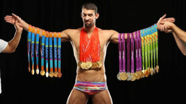 Michael Phelps presumió por 1era vez sus 23 oros Olímpicos