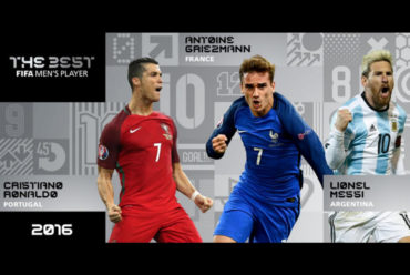 CR7, Griezmann y Messi, candidatos a Mejor Jugador de FIFA