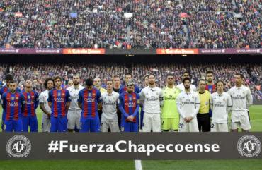 Barcelona y Real Madrid recordaron a víctimas del Chapecoense