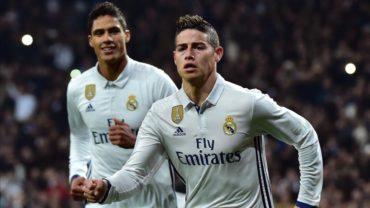 Con doblete de James el Madrid pone un pie en cuartos de final de la Copa del Rey