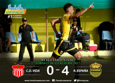 El Vida no gana en el Torneo Clausura y acumuló su segunda derrota ante Real España