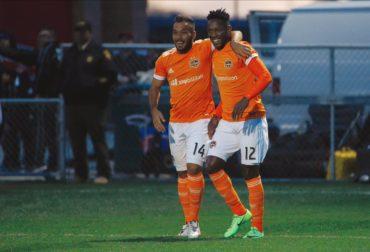 Romell Quioto marcó ante el New York City su primer gol con la camiseta de Houston Dynamo