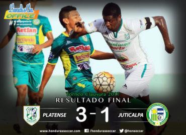 En una brillante remontada, el Platense venció al Juticalpa