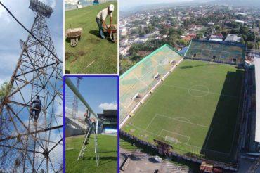 Buena Pulida le están dando al Estadio Morazán de San Pedro Sula