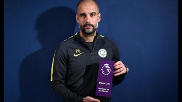 Guardiola fue nombrado mejor entrenador del mes en Premier League