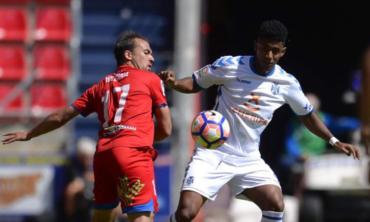 """""""Choco"""" Lozano celebró su quinto gol con el Tenerife"""