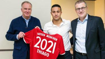 Thiago renueva con el Bayern Munich hasta 2021