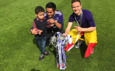 Andy Najar festejó con su hijo el título de Liga del Anderlecht