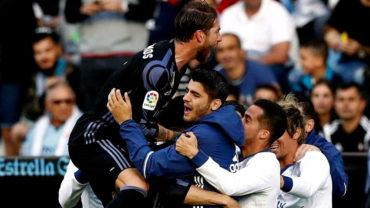 Real Madrid goleó al Celta y quedó un punto de ganar el título de La Liga