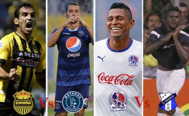 Semifinal Torneo Clausura: Olimpia-Honduras Progreso y Motagua-Real España