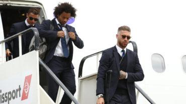Real Madrid aterrizó en el aeropuerto de Cardiff en busca de su Copa 12