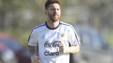 Messi ya entrena con Sampaoli en la Selección Argentina