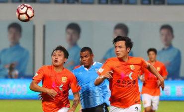 Rony Martínez, fue titular en la derrota de Baoding Yingli Yitong FC
