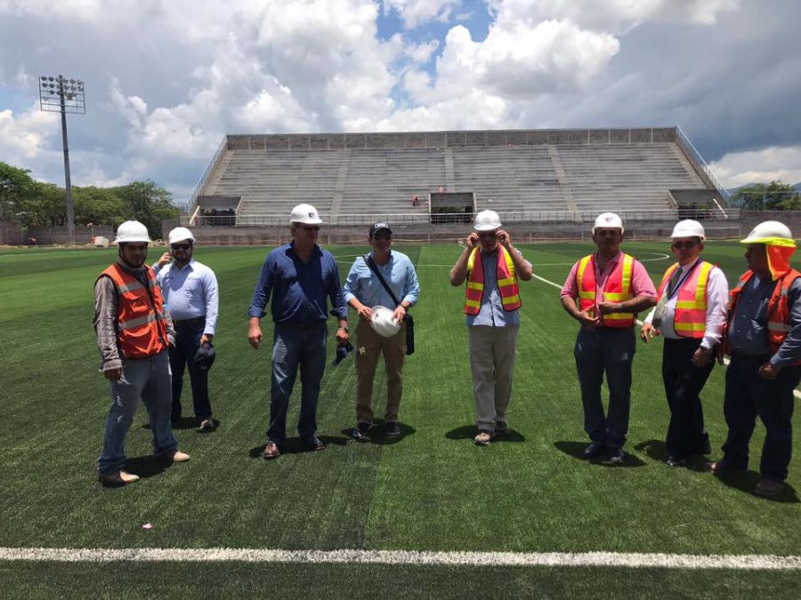 Directivos del Motagua llegaron a supervisar el Estadio Emilio Williams de Choluteca