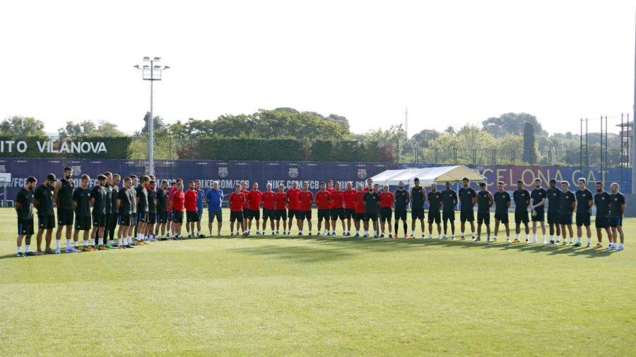 Equipos Españoles hacen minuto de silencio en su entrenamiento por las víctimas de Barcelona