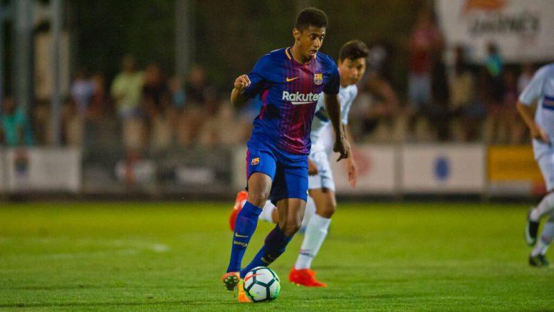 """Espectacular debut que obtuvo el Hondureño """"Choco"""" Lozano con el Barcelona B"""