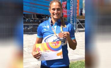 Nadadora hondureña, Ana Joselina Fortín se volvió a subir al podio