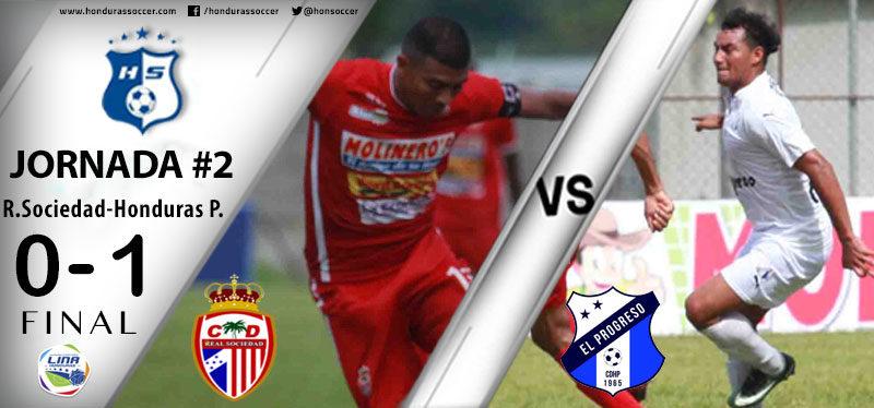 Honduras Progreso volvió a las senda del triunfo al vencer con agonía a la Real Sociedad