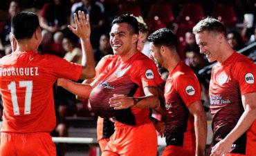 José Escalante se lució con un golazo en la United Soccer League (USL)