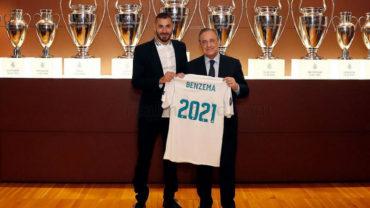 Karim Benzema renovó con el Real Madrid hasta el 2021