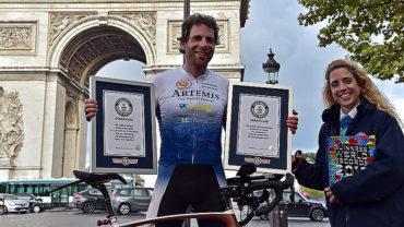 Escocés dio vuelta al mundo en bicicleta en 79 días