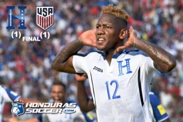 Honduras complica su clasificación al Mundial de Rusia al empatar ante EE.UU.