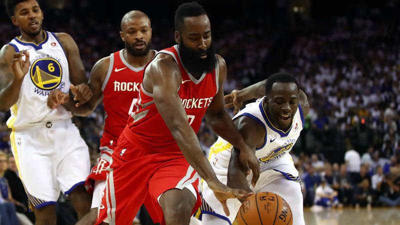 Remontada de Rockets abolló corona a Warriors en debut vibrante