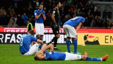 Italia queda por fuera de un Mundial por primera vez en 60 años
