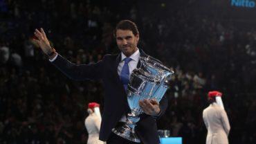 Rafael Nadal recibió trofeo de número uno del año