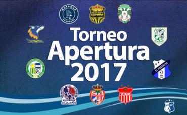 Ultima jornada del Torneo Apertura 2017 se jugará el Jueves a las 3 p.m.