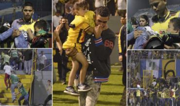 Aficionados del Real España y Marathón vivieron minutos de terror en el Estadio Morazán