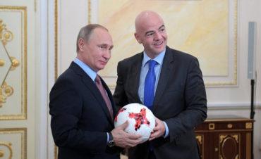 Putin recibe a Infantino para abordar los preparativos del Mundial