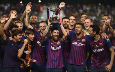Barcelona gana la Supercopa de España al vencer 2-1 al Sevilla