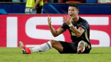 Juventus derrotó 2-0 a Valencia a pesar de la expulsión de Cristiano Ronaldo