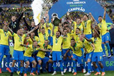 Brasil vence 3-1 a Perú en el Maracaná y consigue su novena Copa América