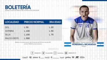 Fenafuth establece precios para el partido de la Sub-23 ante Nicaragua