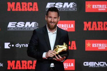 Messi recibe su sexta Bota de Oro